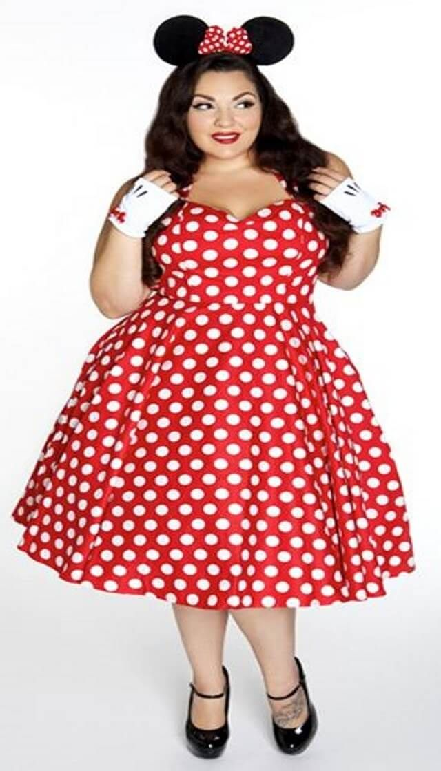 Plus Size Minnie Mouse Costume: Minnie mouse never goes out ...