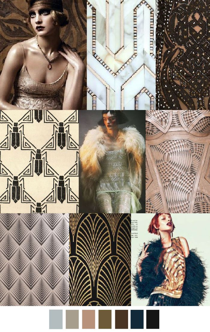 A/W 2016-17 COLORS + PATTERN TREND : Art Deco