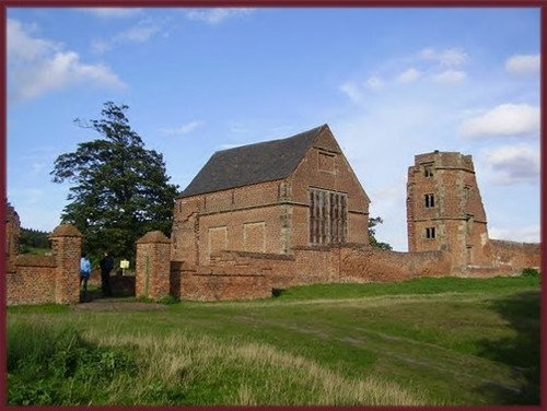 The remains of Bradgate House - the birthplace of Lady Jane Grey in Leicestershire