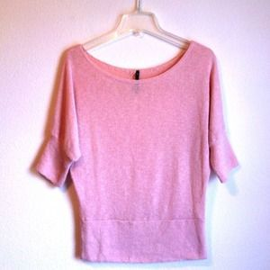 I just added this to my closet on Poshmark: Love Culture Baby Pink Batwing Top. Price: $10 Size: S
