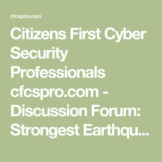 Citizens First Cyber Security Professionals cfcspro.com - Discussion Forum: Strongest Earthquake In Decades Rocks Yellowstone National Park