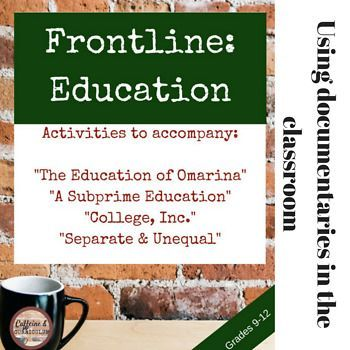 PBS FRONTLINE: EDUCATION Editable Questions for 4 documentaries *BUNDLE* $