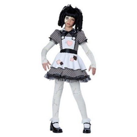 Haunted Doll Child Halloween Costume, Girl's, Size: S/M, White