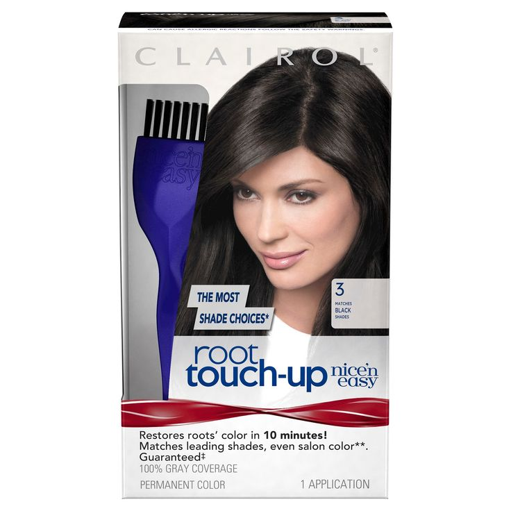 Clairol Nice 'n Easy Root Touch-Up - 003 Black - 1 Kit, Black-3