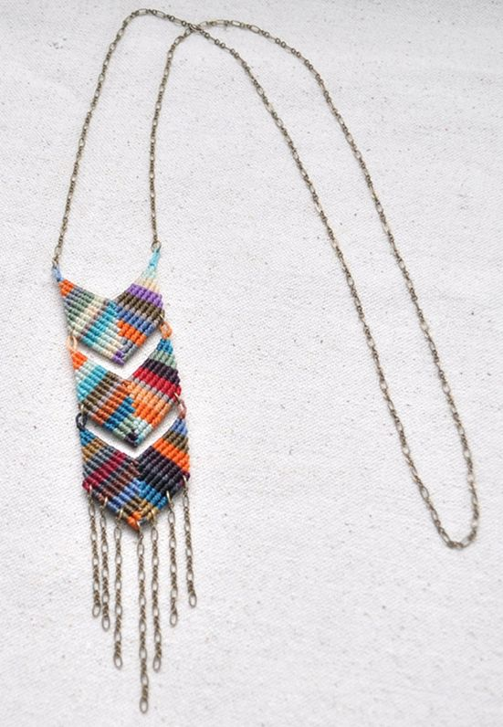 Chevron Necklace by Amira Mednick