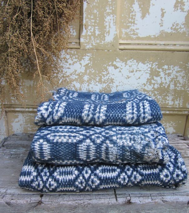 OLD COVERLET PIECES
