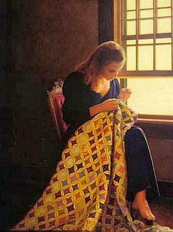 'Quilt' - painting by Peter Taylor Quidley http://www.pinterest.com/miae0507/%EB%B0%94%EB%8A%90%EC%A7%88%ED%95%98%EB%8A%94-%EC%97%AC%EC%9D%B8/