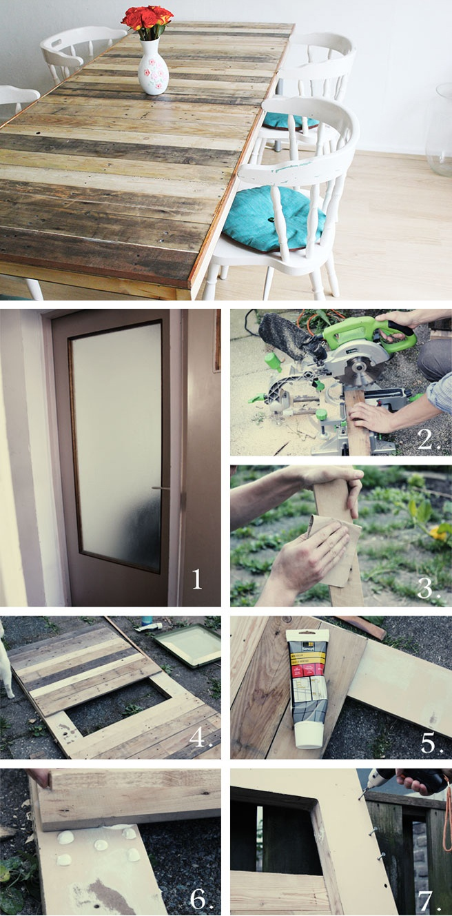 DIY pallet table - step by step tutorial ***(I want to add a sunken box in the middle to hold salt n pepper, napkins, etc...)***