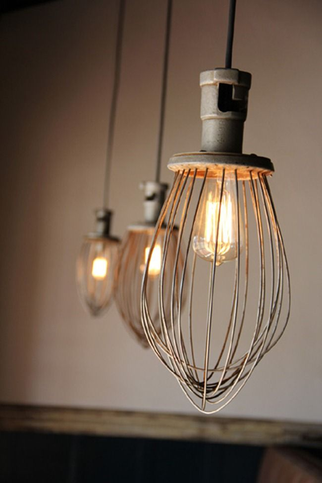 Using An Old Whisk As A Light Kitchenaid Recycle