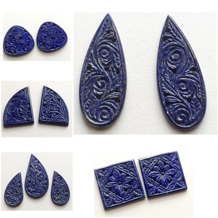 Gemsforjewels brings you original natural lapis lazuli hand carvings. A royal handwork all the way from India for your beautiful jewelry. These are not lab created or imitation but totally natural. For all U September birthstone people -it's a pure treat!