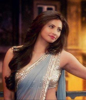 Jai ho bollywood replica daisy shah grey georgette saree. I found this beautiful design on Mirraw.com