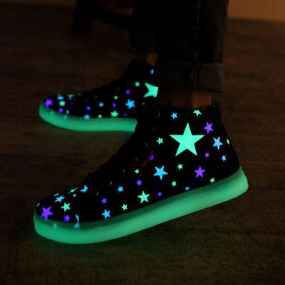 Fashion kawaii stars luminous canvas sneakers