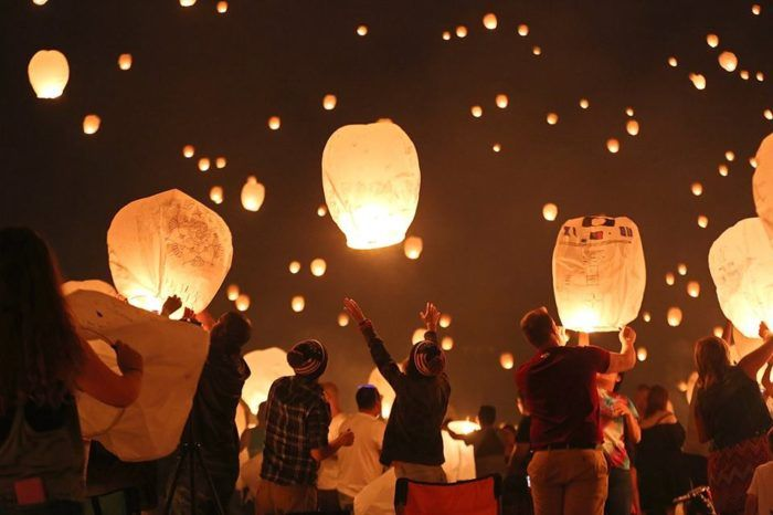 Celebrate your hopes and dreams for the future when you send your own lantern - a symbol of good fortune - soaring into the sky after the September sun sets.