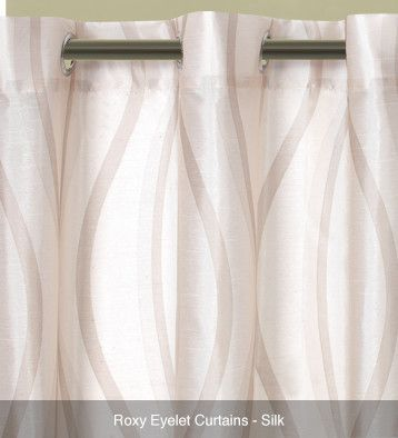 Roxy Translucent Eyelet Curtains – Ready Made Silk #curtains