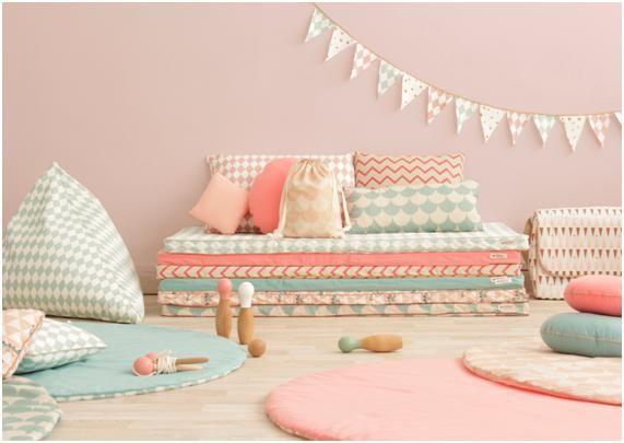 Nueva colección de alfombras redondas Nobodinoz en Minimoi: alfombras de formato redondo, reversibles y lavables, en la tienda online minimoi.com