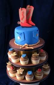 cowboy cupcake tower