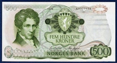 Norwegian Krone | Banknotes of the Norwegian krone - 500 Kroner banknote