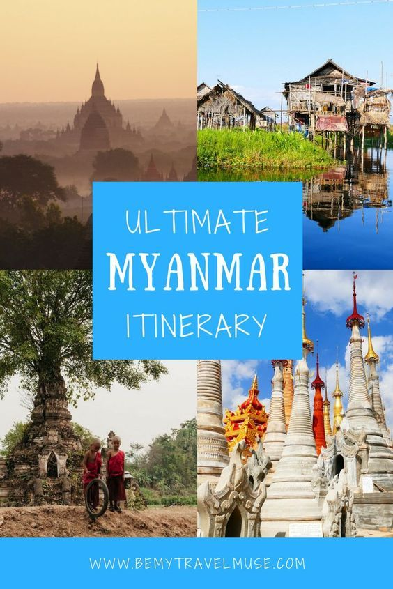 A comprehensive guide to travel in Myanmar, a country quickly gaining popularity amongst backpackers in Southeast Asia (for good reason!). This itinerary includes stops in Yangon, Inle Lake, Bagan, Mandalay + more! Travel tips for your trip to Burma. || Be My Travel Muse