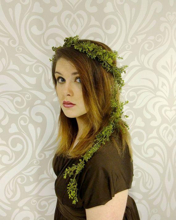 Vert fougère Forest Elf Couronne coiffure Elven par RuthNoreDesigns