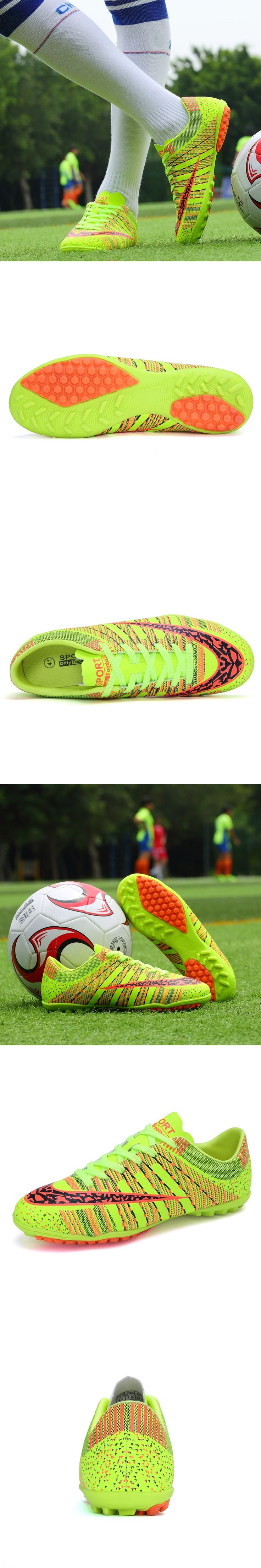 Free shipping TF Indoor Professional Football Boots Cheap Turf Soccer Cleats mens kids Lace-up mesh Breathable Shoes Size 34-44
