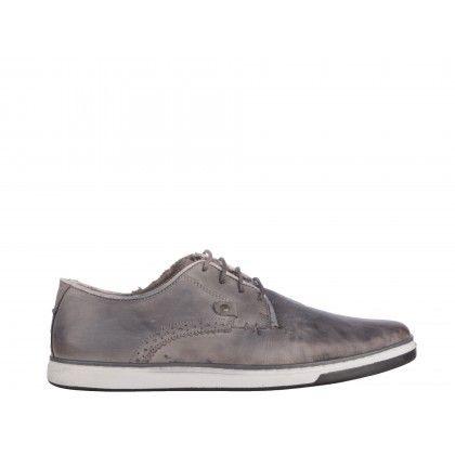 Pantofi casual Gryxx gri inchis, din piele naturala