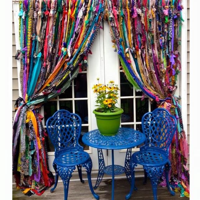 Moonbeams And Mayhem Handmade Gypsy Rag Curtains Find This Pin And More On Boho Chic Decorating