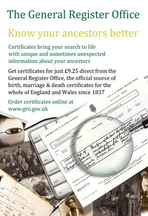 The registration of births, deaths and marriages started in July 1837 in England and Wales. The indexes to these entries have been available for researchers on microfiche and online on various websites (Findmypast, Ancestry, The Genealogist, FreeBMD) for many years and some of us may have even lifted heavy books from shelves in London to view the indexes. As of today however the indexes for births and deaths are also available online via the GRO website www.gro.gov.uk. As a bonus they also…