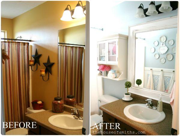 The House of Smiths - Home DIY Blog - Interior Decorating Blog - Decorating on a Budget Blog: Bathroom Mirror, House Bathroom, White Bathroom