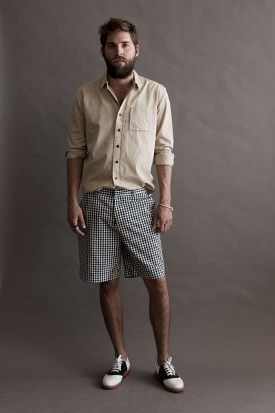 from the beard to the oxfords...this look is briliant