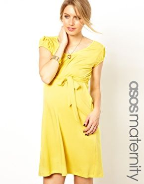I've already worn this one three times! A perfect yellow maternity dress for these hot summer temps! Love it! <3