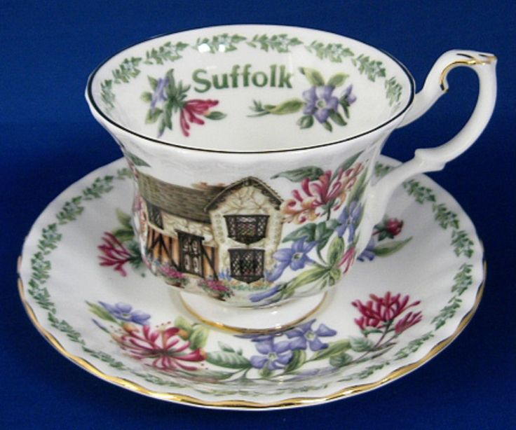 Royal Albert Suffolk English Cottages Cup and Saucer English Country Cottages