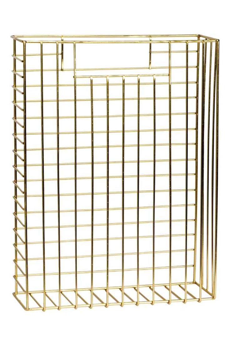 Metal magazine rack - Gold - Home All | H&M GB