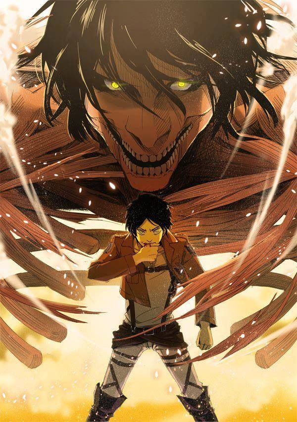 Day 27 - Most awesome scene - Eren Jäger Titan form (entrance) - Attack on Titan