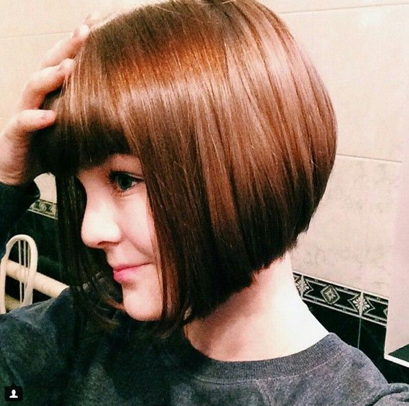 This inverted bob surprises and delights with a daring black ombré that creates a fantastic border around the sides and along the fringe, too! Description from hairstylesweekly.com. I searched for this on bing.com/images