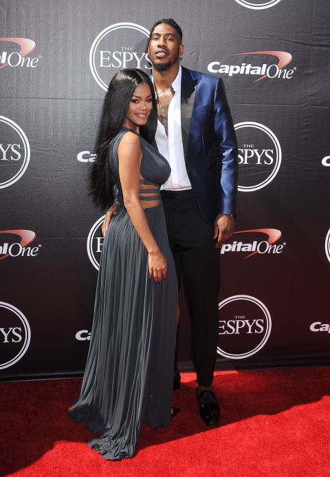 Teyana Taylor and Iman Shumpert at the EPSYs. See all the looks from the night.