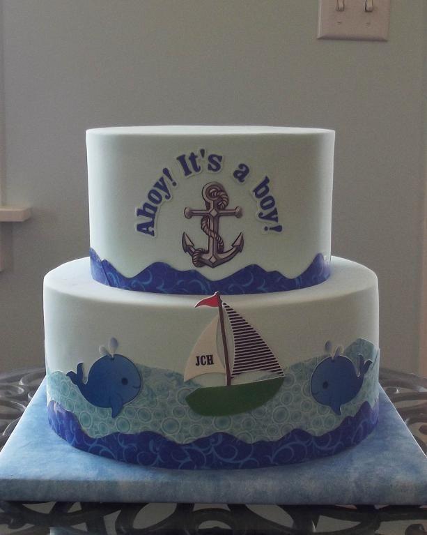 nautical baby shower cakes   Baby Shower Cake by DeseretDesigns   Cake Decorating Ideas