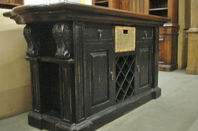 Distressed French Country Kitchen Cabinets