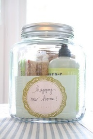 Someone has a new home! Maybe its a friend or relative or you may have a new neighbor! This jar will be perfect for their new kitchen or laundry/mudroom and they will love Mrs. Meyers products.  When giving a gift, if its something you love, chances are your friend will too.  Thats the art of gift giving! This site has creative gift ideas for every occasion.