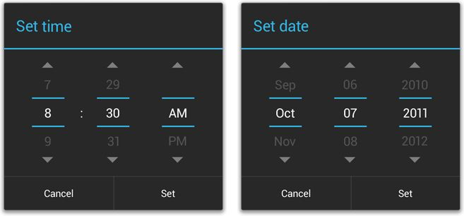 android time picker - Google Search