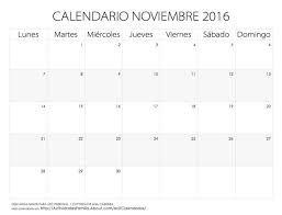 Resultado de imagen para calendario noviembre 2016
