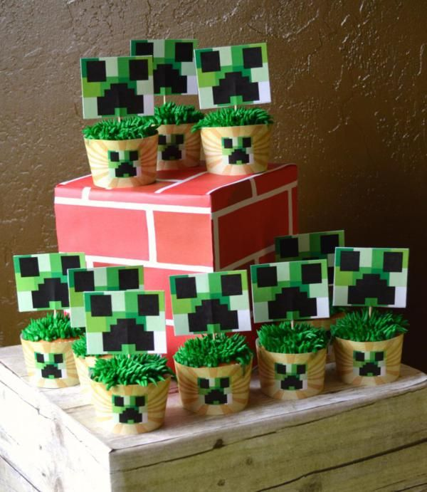 Minecraft Birthday Party Free Printables Decorations Supplies Cake More