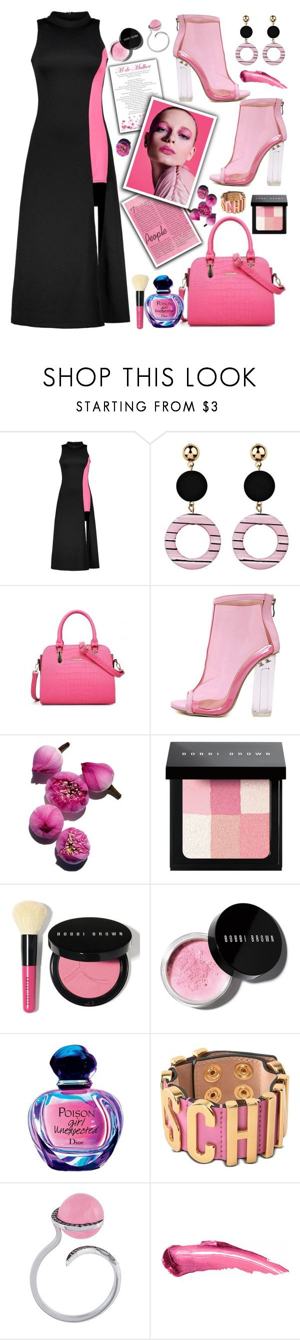 """""""ootd 43"""" by teto000 ❤ liked on Polyvore featuring WithChic, Bobbi Brown Cosmetics, Moschino, Christina Debs, outfit and ootd"""