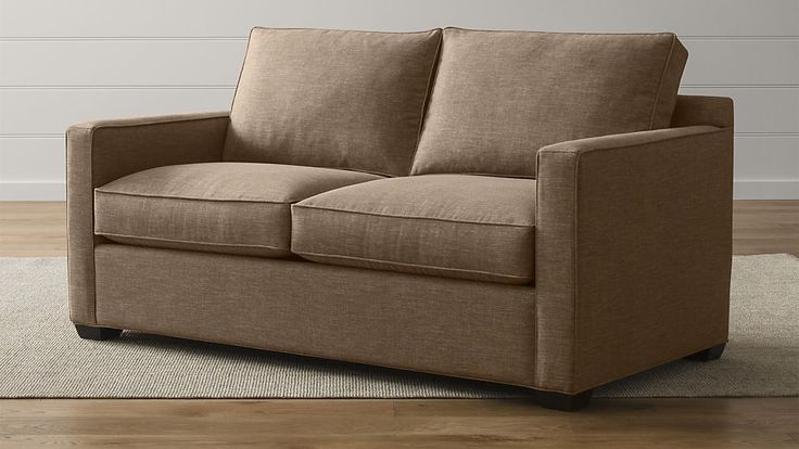 Davis Full Sleeper Sofa with Air Mattress   Crate and Barrel - Davis Sleeper with air mattress layer, tons of colors