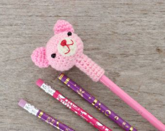 Japanese Girl Crochet Pencil Topper Handmade door ThaiHandbags