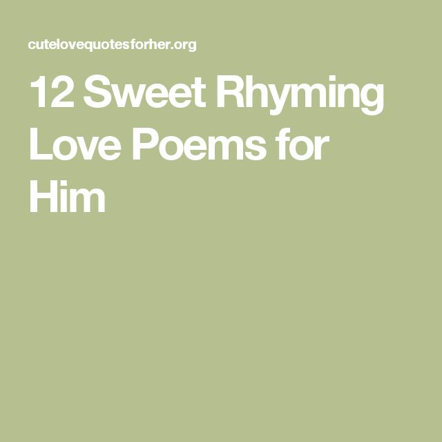 cute rhyming poems