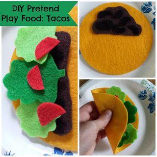 Munchkin and Bean: DIY Pretend Play Food: Tacos