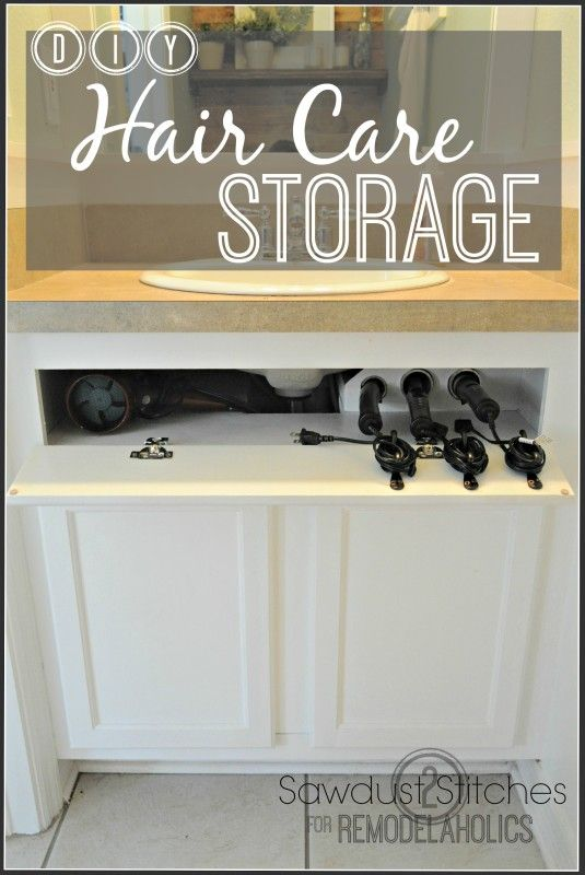 DIY Hot Hair Tool Storage  Not only is this brilliant and well described, its fun to read! She has so many fantastic ideas!!!