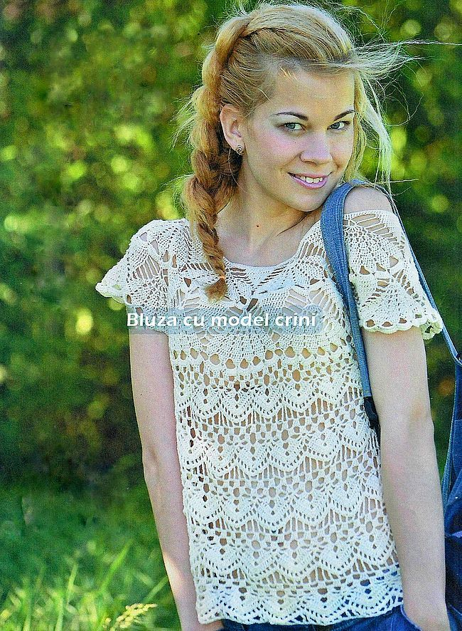 Lirios de blusa con motivos de Crosetata