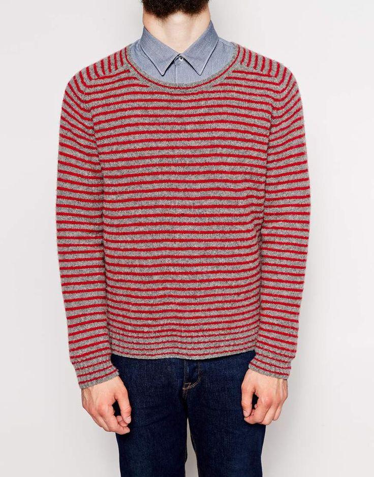 Image 3 of Peter Werth Stripe Wool Mix Sweater