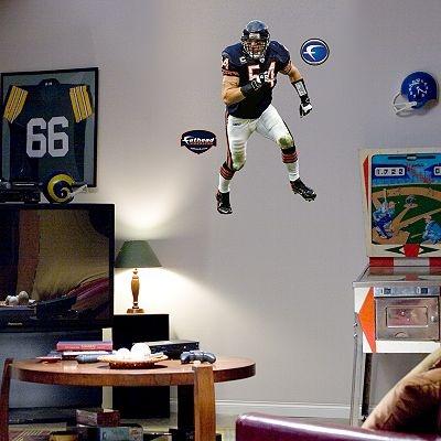Fathead Junior Chicago Bears Brian Urlacher Wall Decal Part 95